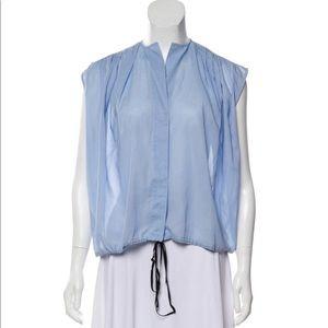 Tome V-neck short sleeve blouse